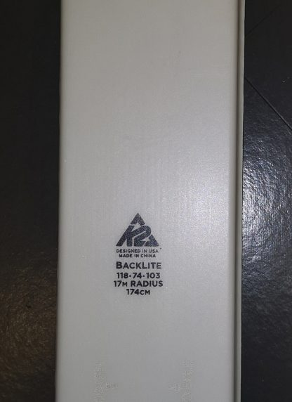 K2 BACKLITE 74, Lungh. 174cm